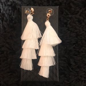 Jewelry - Ivory tassel earrings